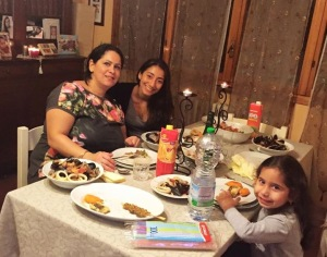 Welcoming dinner with my Modenese relatives